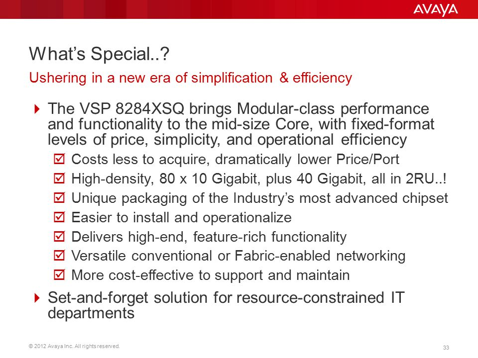 What's Special.. Ushering in a new era of simplification & efficiency.