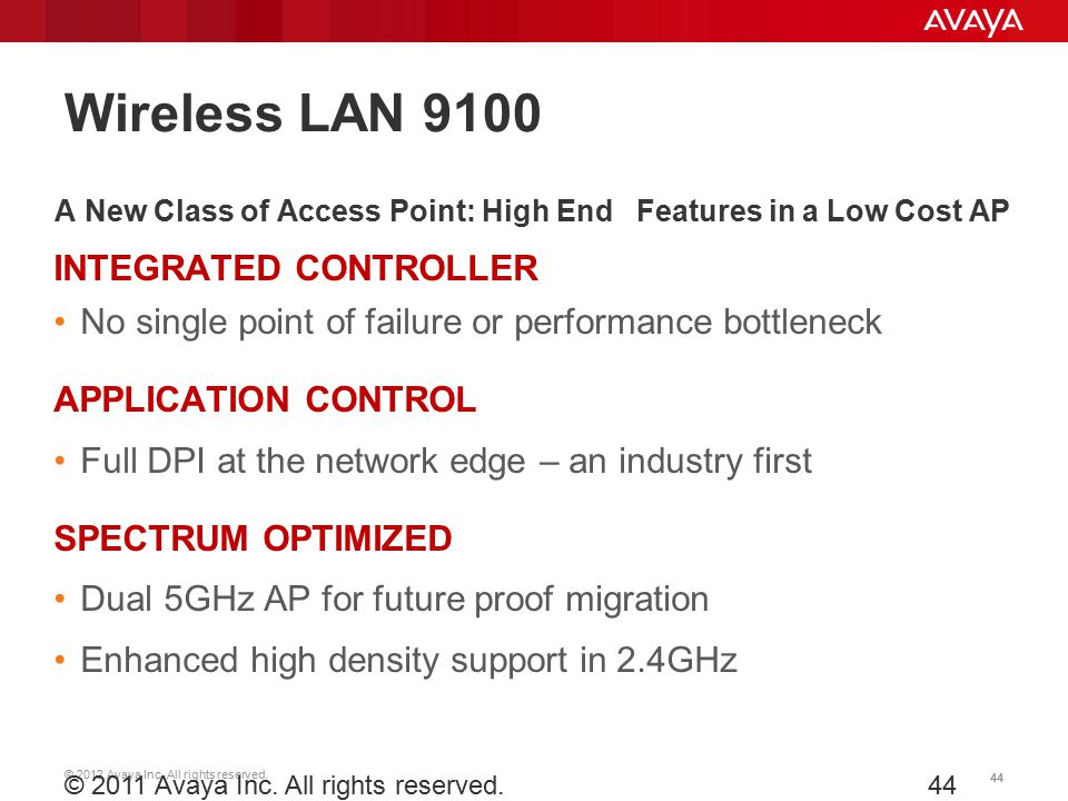 A New Class of Access Point: High End Features in a Low Cost AP