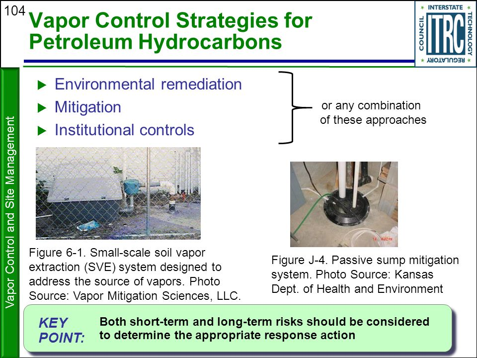 Vapor Control Strategies for Petroleum Hydrocarbons