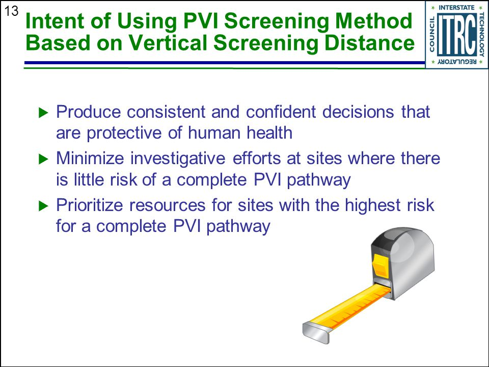 Intent of Using PVI Screening Method Based on Vertical Screening Distance