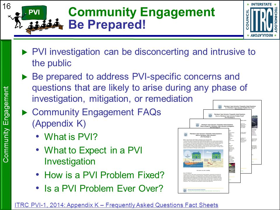 Community Engagement Be Prepared!