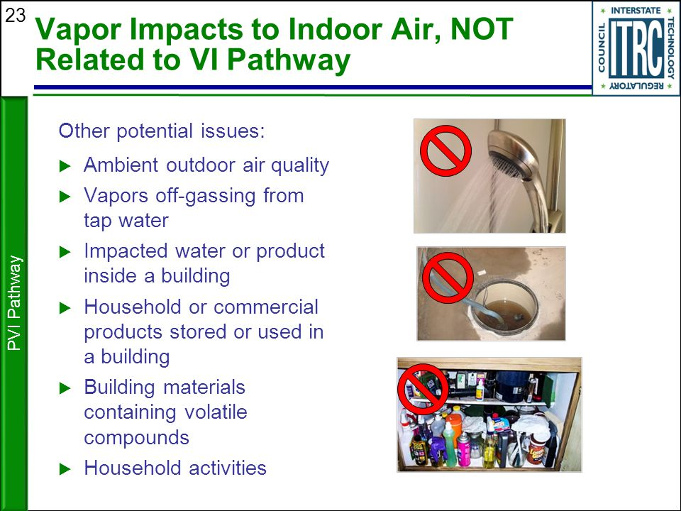 Vapor Impacts to Indoor Air, NOT Related to VI Pathway