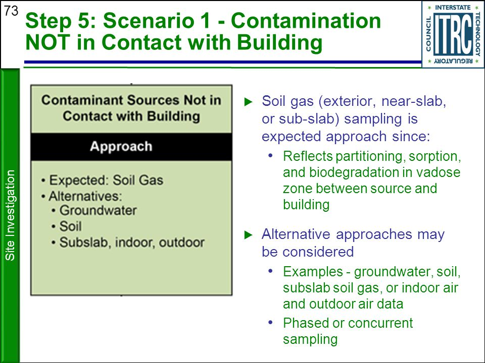 Step 5: Scenario 1 - Contamination NOT in Contact with Building