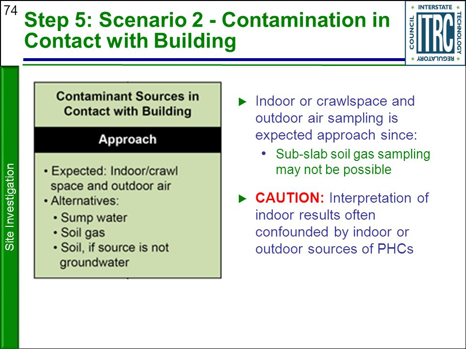 Step 5: Scenario 2 - Contamination in Contact with Building