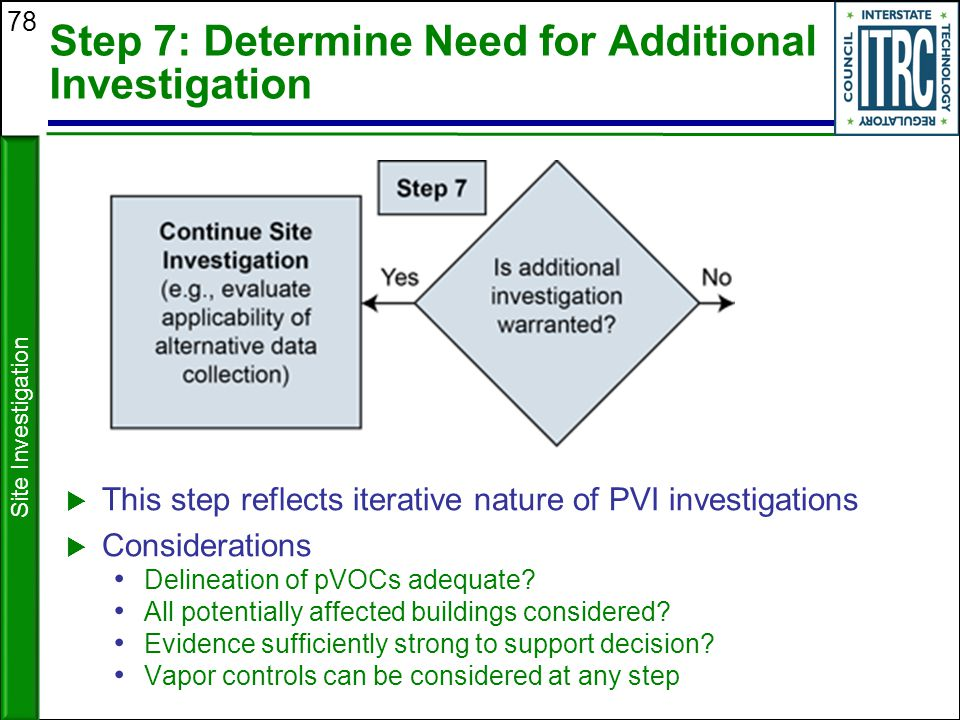 Step 7: Determine Need for Additional Investigation