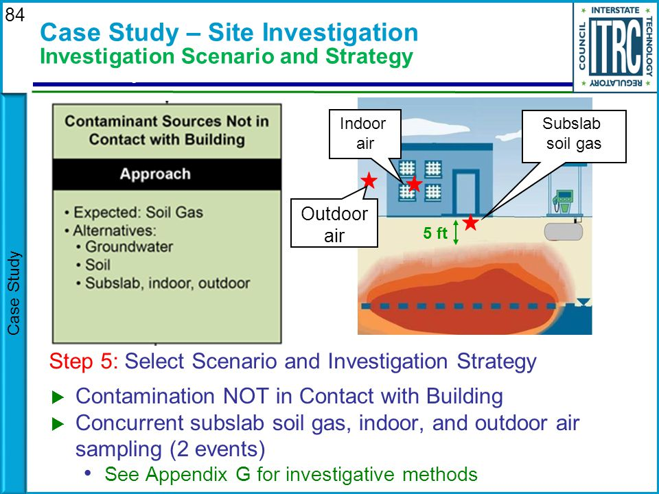 Case Study – Site Investigation Investigation Scenario and Strategy
