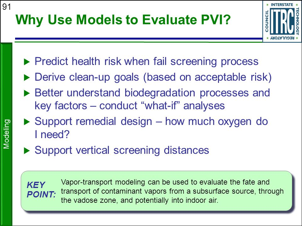 Why Use Models to Evaluate PVI