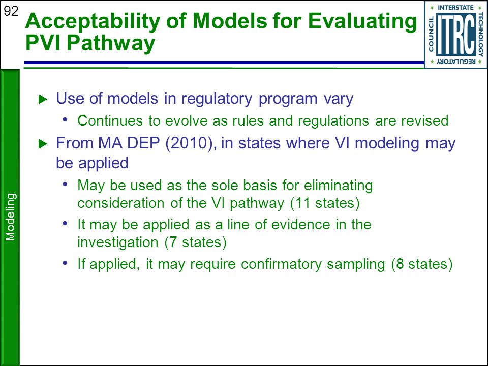 Acceptability of Models for Evaluating PVI Pathway