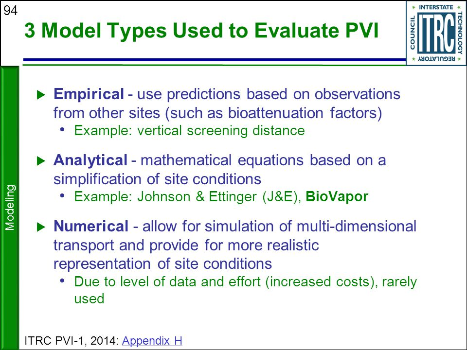 3 Model Types Used to Evaluate PVI