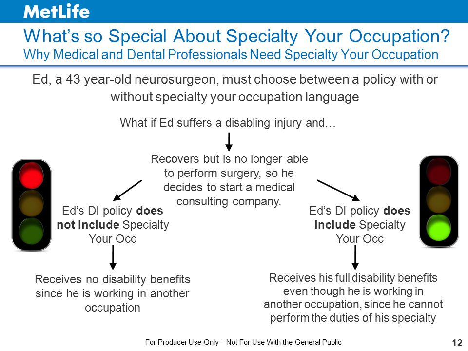 What's so Special About Specialty Your Occupation