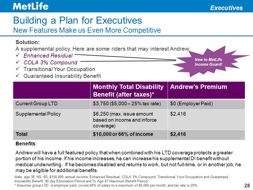 New to MetLife Income Guard!