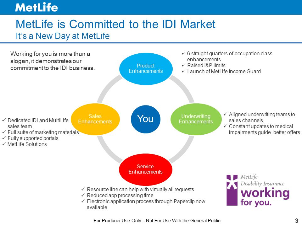 MetLife is Committed to the IDI Market It's a New Day at MetLife