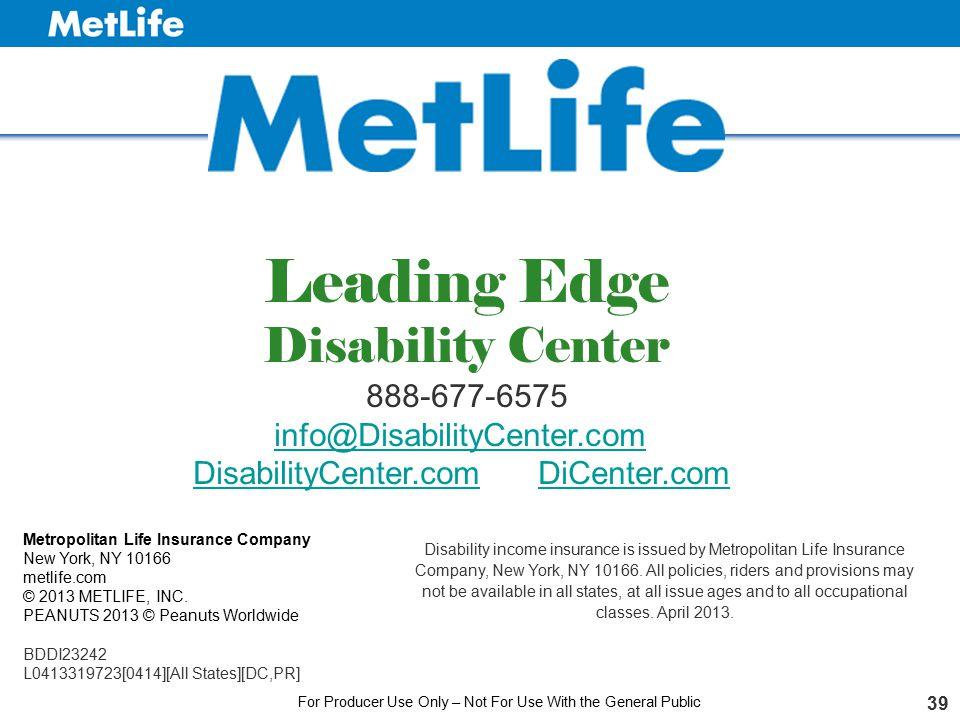 Leading Edge Disability Center 888-677-6575 info@DisabilityCenter.com