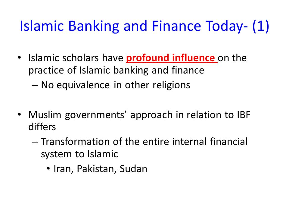 Islamic Banking and Finance Today- (1)