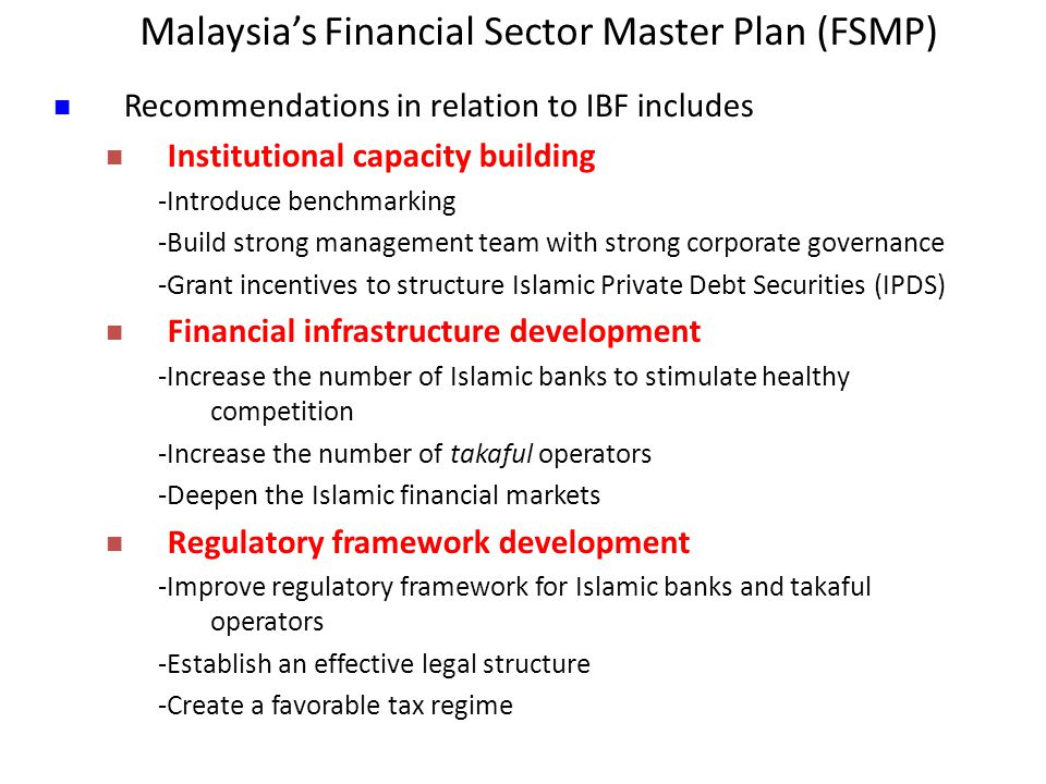 Malaysia's Financial Sector Master Plan (FSMP)