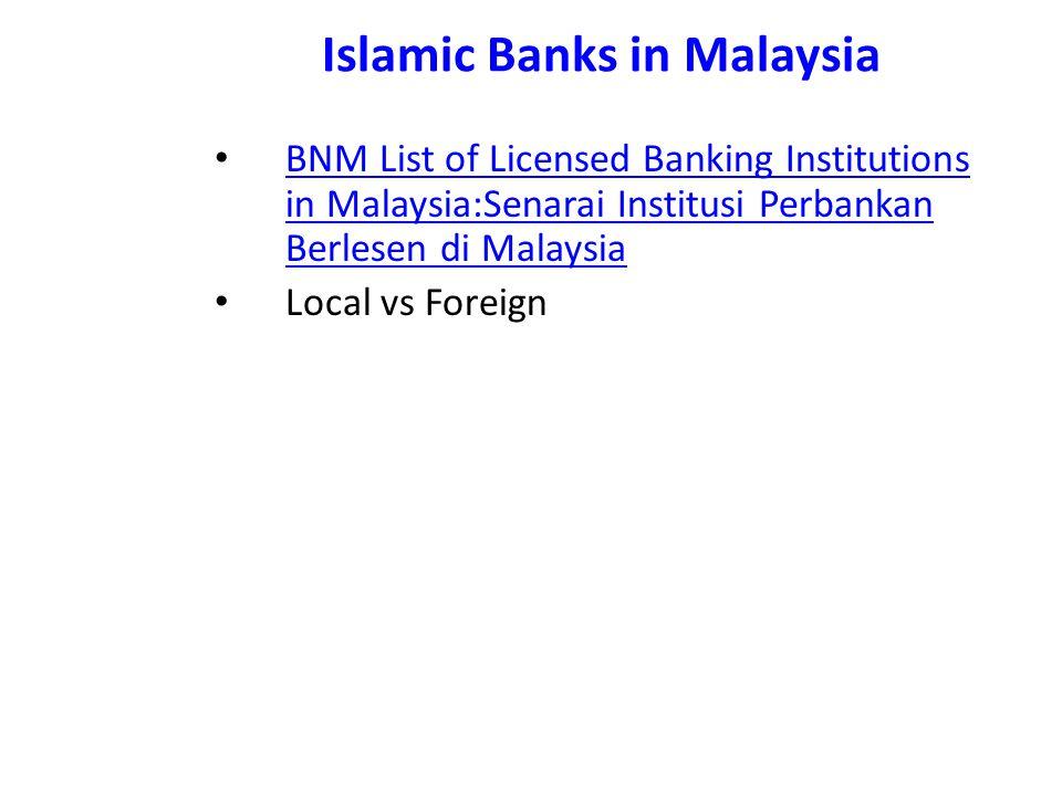 Islamic Banks in Malaysia