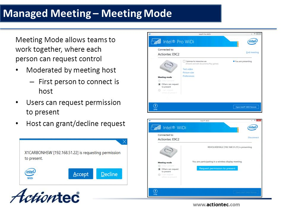 Managed Meeting – Meeting Mode