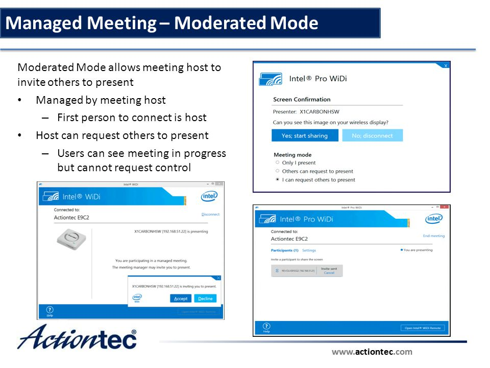 Managed Meeting – Moderated Mode