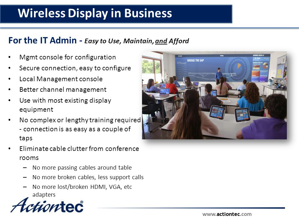 Wireless Display in Business
