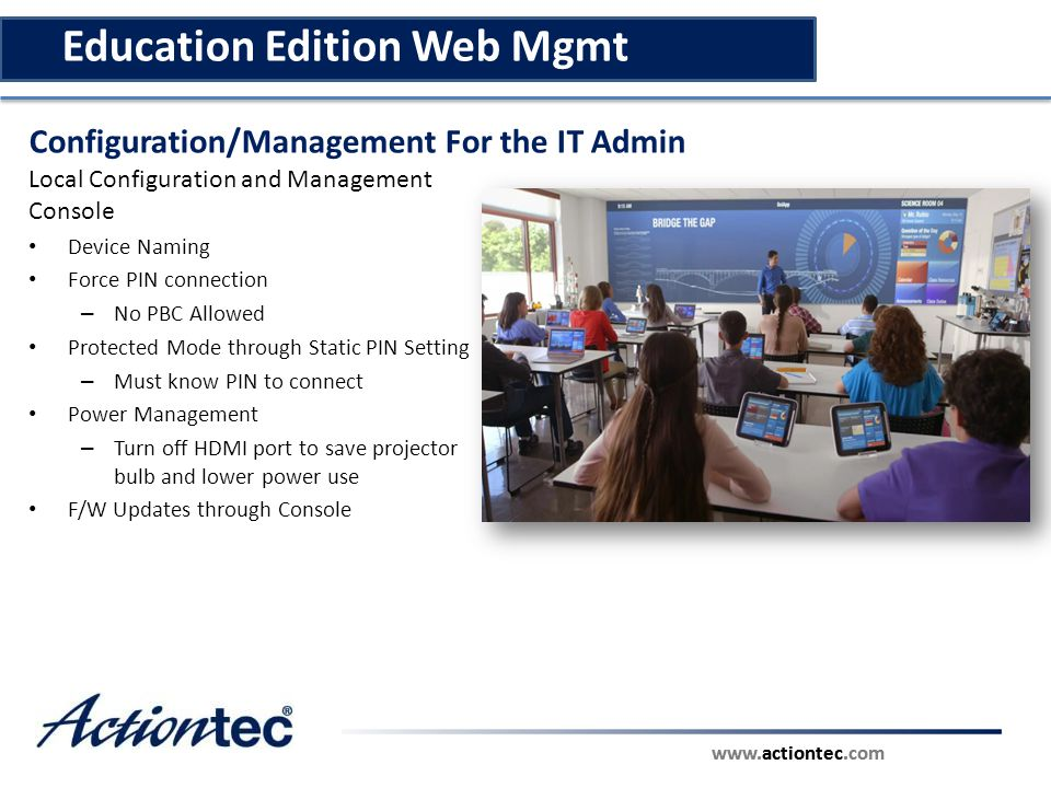 Education Edition Web Mgmt