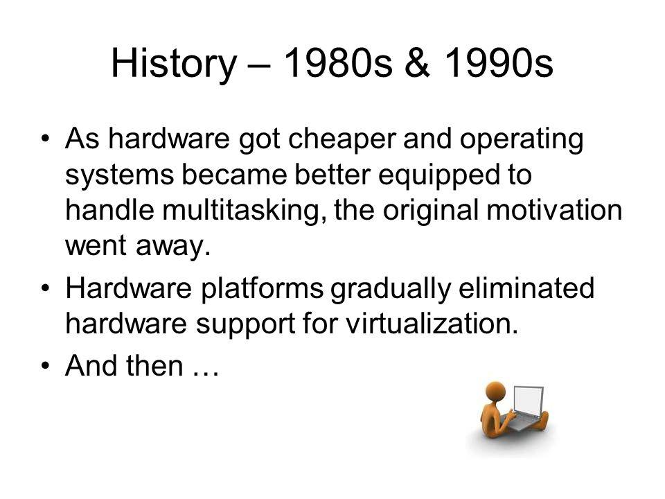 History – 1980s & 1990s