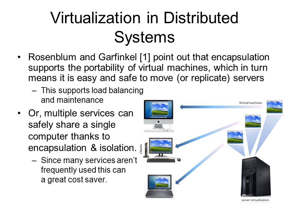 Virtualization in Distributed Systems