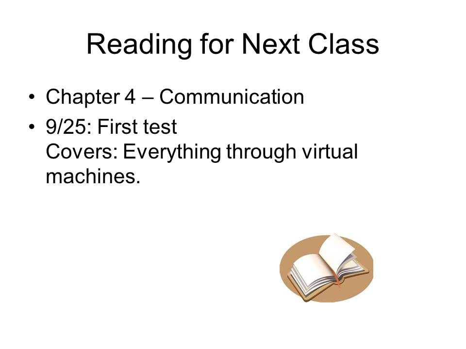 Reading for Next Class Chapter 4 – Communication