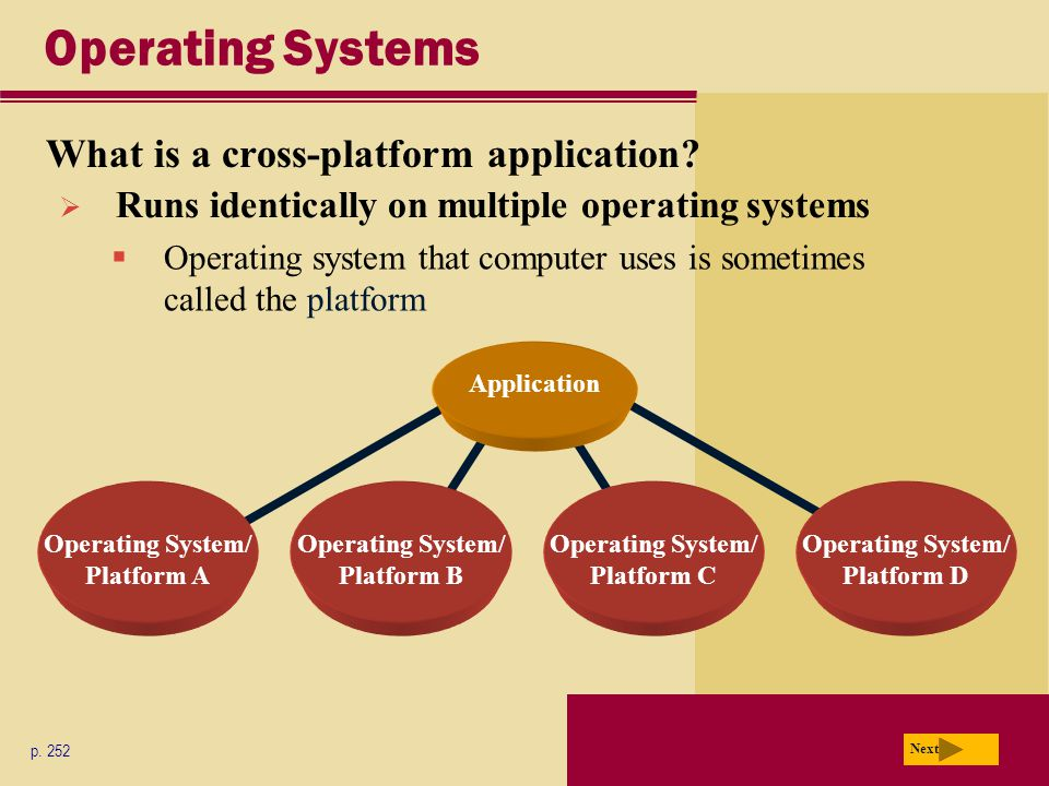 Operating Systems What is a cross-platform application