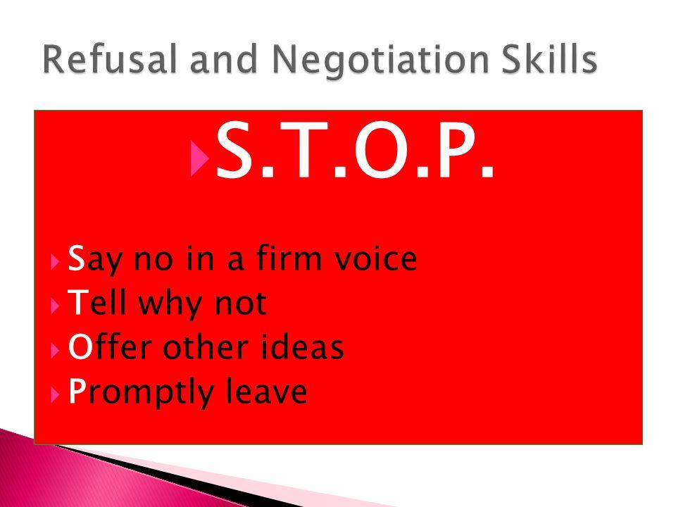 Refusal and Negotiation Skills