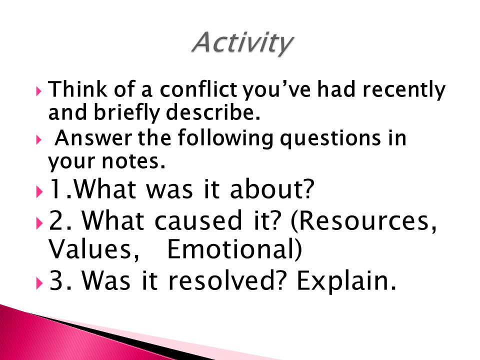 Activity 1.What was it about