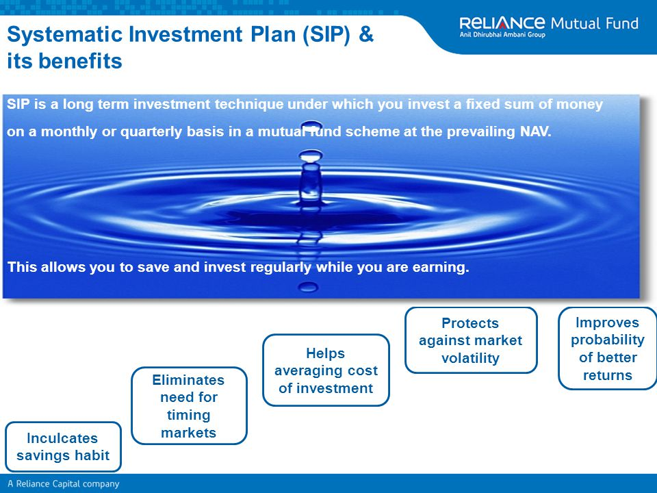 Systematic Investment Plan (SIP) & its benefits