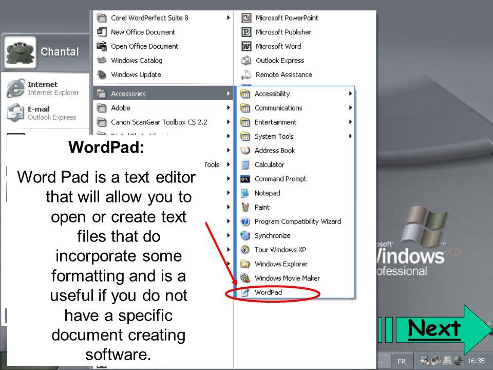 WordPad: