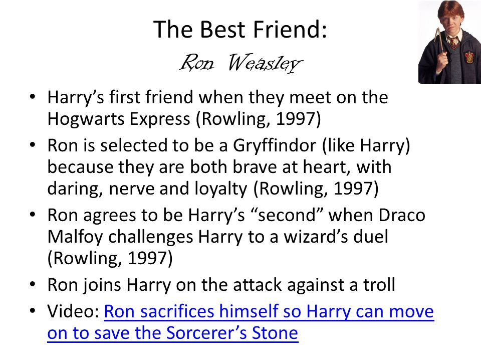 The Best Friend: Ron Weasley