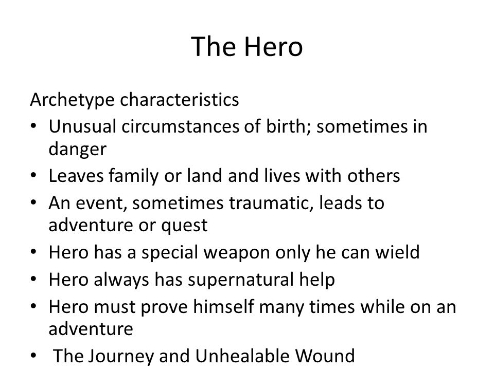 The Hero Archetype characteristics