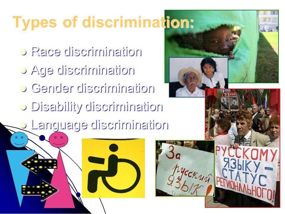 Types of discrimination: