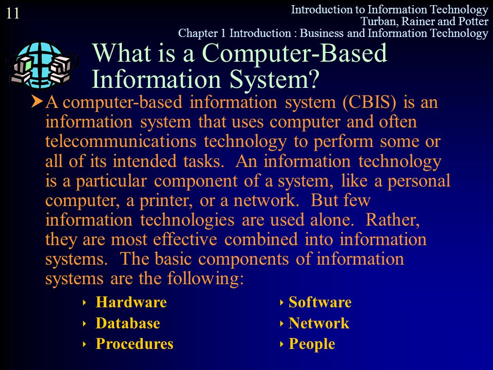 What is a Computer-Based Information System