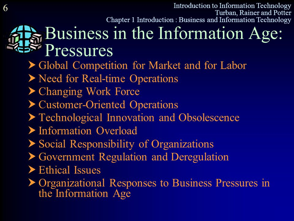 Business in the Information Age: Pressures