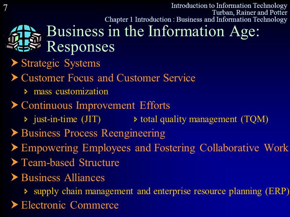 Business in the Information Age: Responses