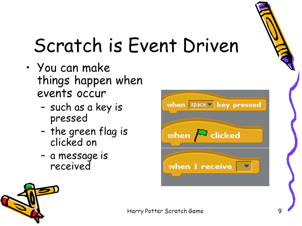Scratch is Event Driven