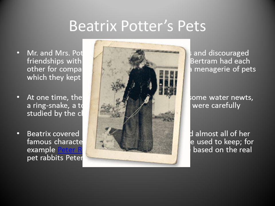 Beatrix Potter's Pets
