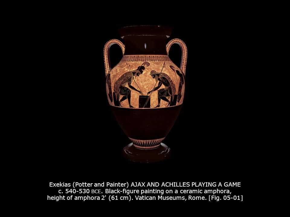 Exekias (Potter and Painter) AJAX AND ACHILLES PLAYING A GAME c