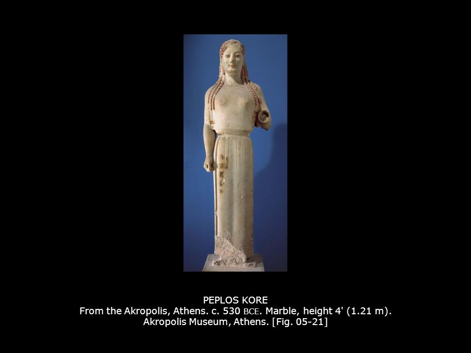 PEPLOS KORE From the Akropolis, Athens. c. 530 BCE