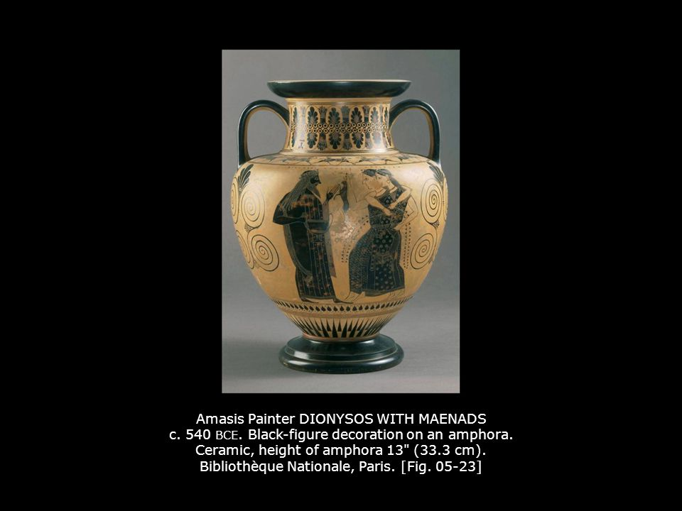 Amasis Painter DIONYSOS WITH MAENADS c. 540 BCE
