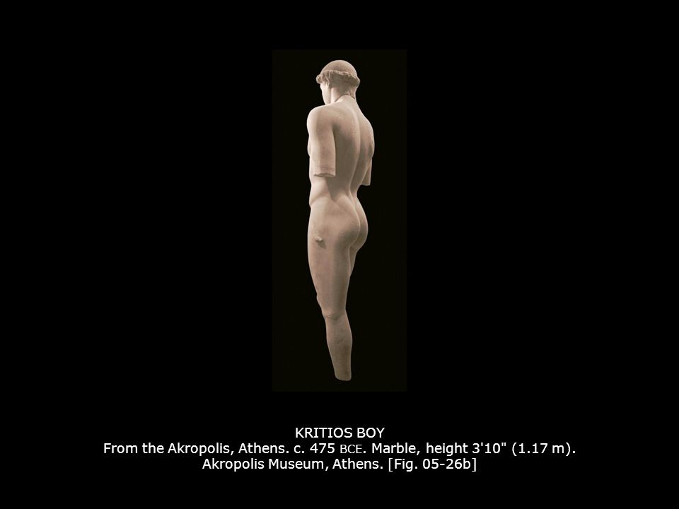 KRITIOS BOY From the Akropolis, Athens. c. 475 BCE