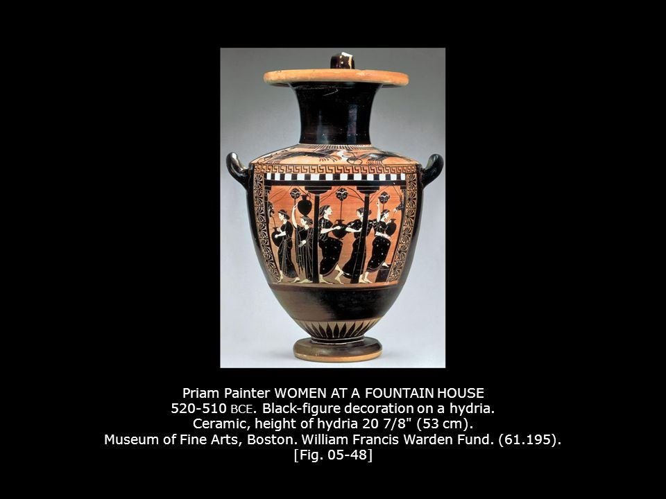 Priam Painter WOMEN AT A FOUNTAIN HOUSE 520-510 BCE