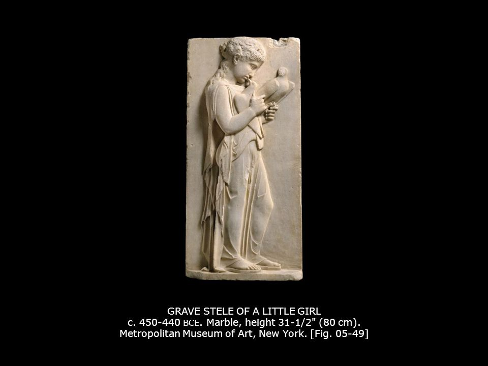 GRAVE STELE OF A LITTLE GIRL c. 450-440 BCE