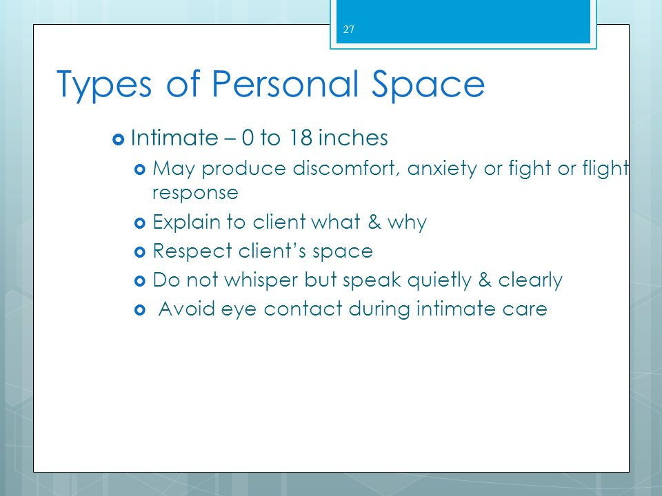 Types of Personal Space