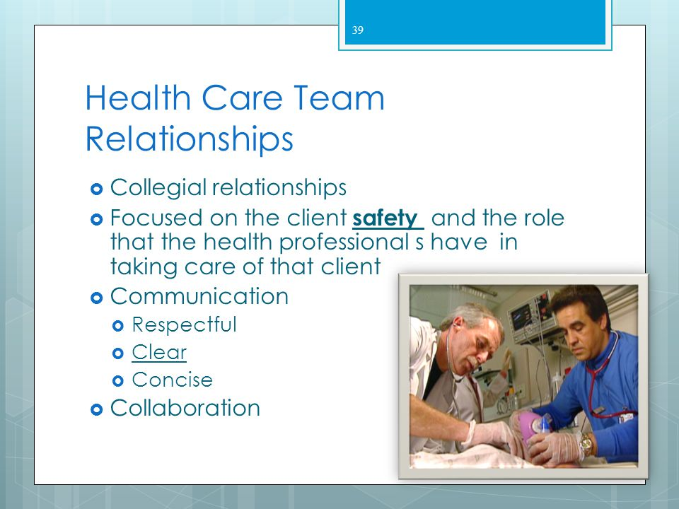 Health Care Team Relationships