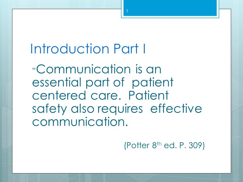 Communication Skills for Nurses