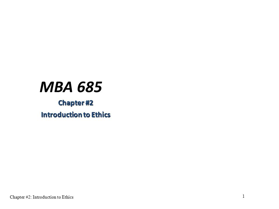 mba chapter 1 introduction